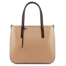 Penelope Borsa shopping in pelle Champagne TL141791