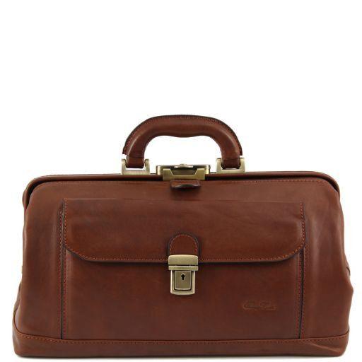 Bernini Esclusiva borsa medico in pelle Marrone FC140225
