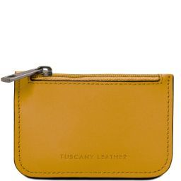 Leather key holder Mustard TL141671