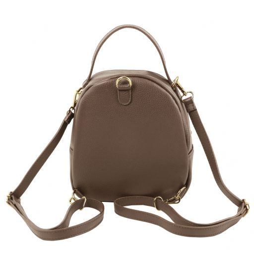 TL Bag Leather backpack for women Dark Taupe TL141743