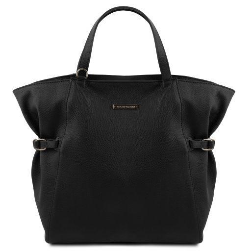 TL Bag Bolso Shopping en piel morbida Negro TL141883