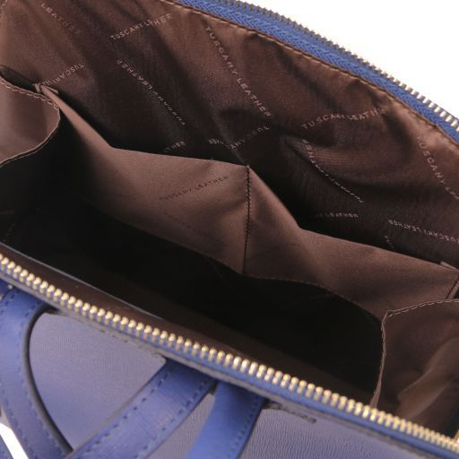 TL Bag Sac à dos pour femme en cuir Saffiano Bleu foncé TL141631