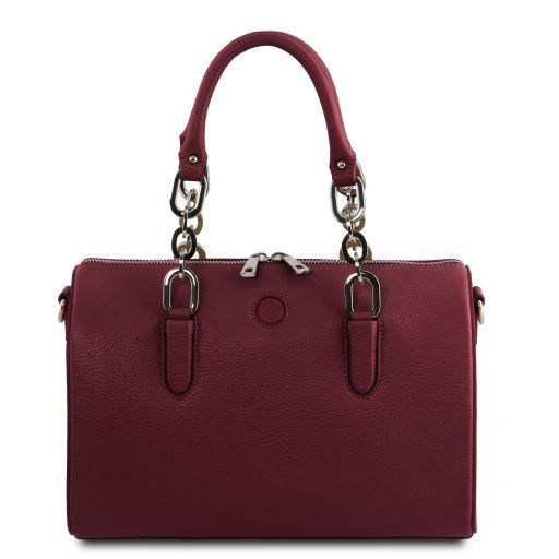 Narciso Leather duffle bag Bordeaux TL141875