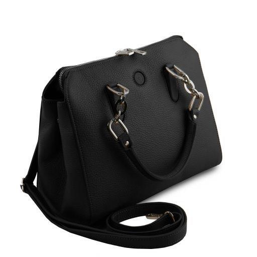 Lilia Leather handbag Черный TL141876