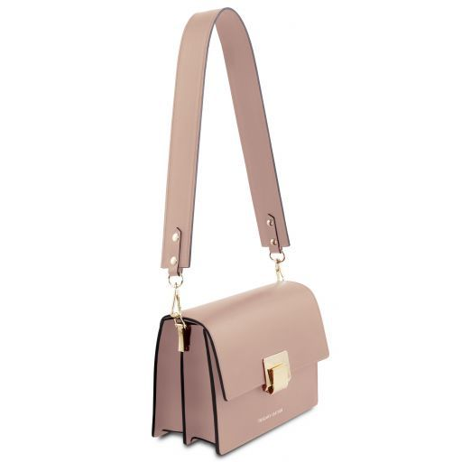 Adele Leather clutch Taupe TL141742