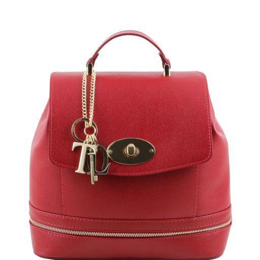 TL KEYLUCK Borsa donna in pelle Saffiano convertibile a zaino Rosso TL141360