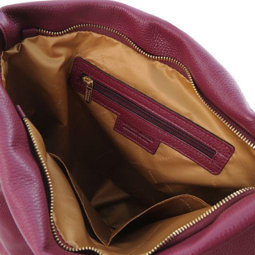 TL Bag Borsa hobo in pelle morbida Bordeaux TL141884