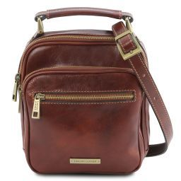 Paul Leather Crossbody Bag Brown TL141916