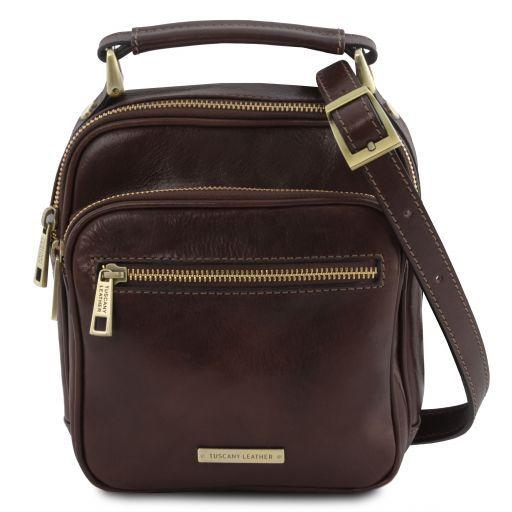 Paul Leather Crossbody Bag Темно-коричневый TL141916