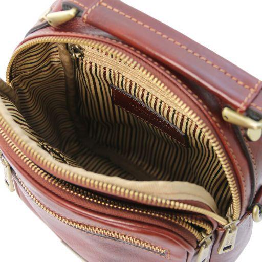 Paul Leather Crossbody Bag Brown TL141916