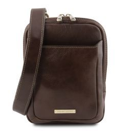Mark Leather Crossbody Bag Dark Brown TL141914