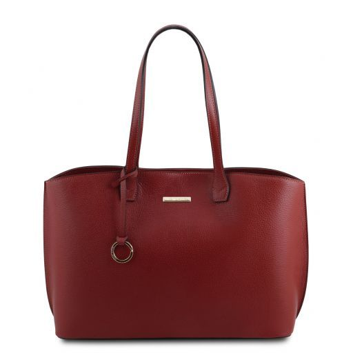 TL Bag Soft leather tote bag Red TL141828