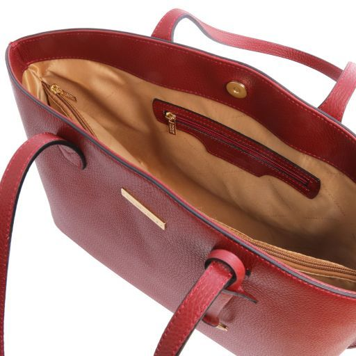 TL Bag Leather shopping bag Red TL141828
