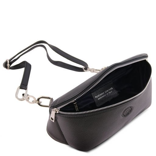 Erica Soft leather fanny pack Black TL141877
