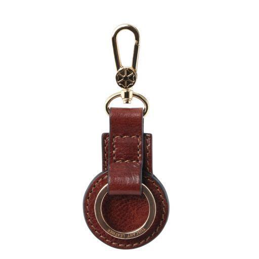 Porte clé en cuir Marron TL141922