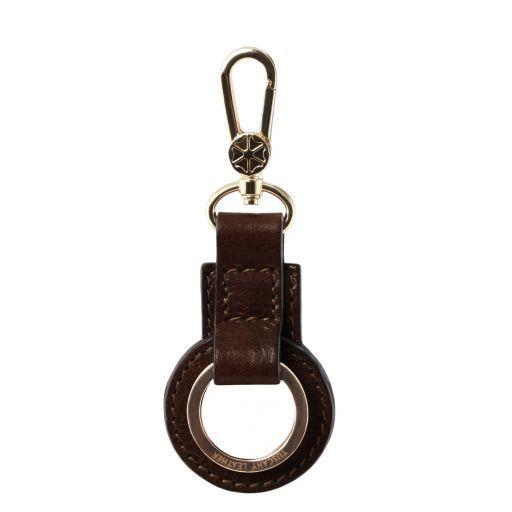 Schlüsselanhänger aus Leder Dunkelbraun TL141923