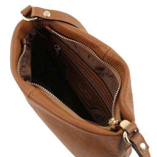 TL Bag Soft leather shoulder bag Cognac TL141720