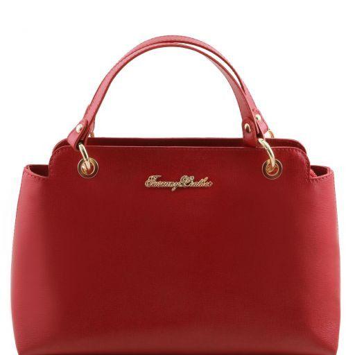 TL Bag Borsa a mano in pelle Saffiano con due manici Rosso TL141367