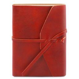 Reisetagebuch aus Leder Rot TL141925