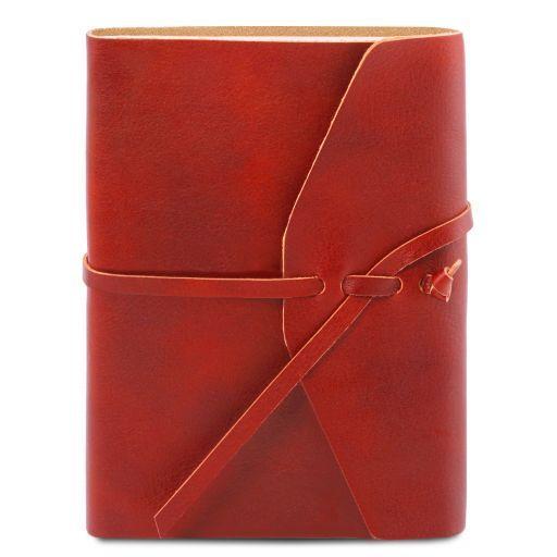 Diario di viaggio in pelle Rosso TL141925