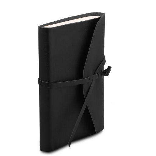 Leather travel diary Black TL141925