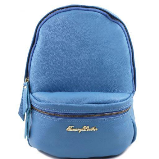TL Bag Sac à dos pour femme en cuir souple Bleu céleste TL141370