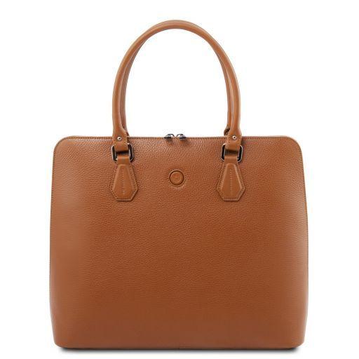 Magnolia Leather business bag for women Cognac TL141809