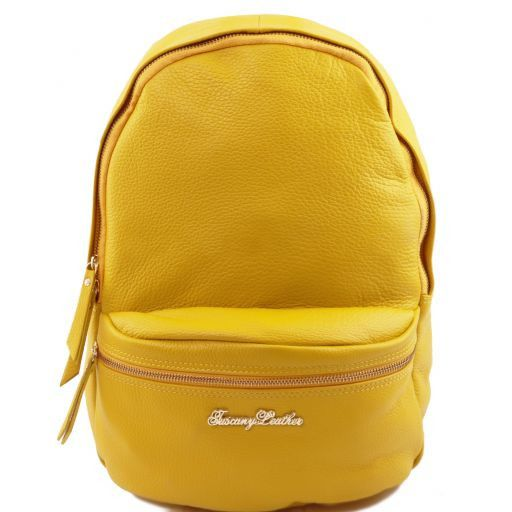 TL Bag Zaino donna in pelle morbida Giallo TL141370