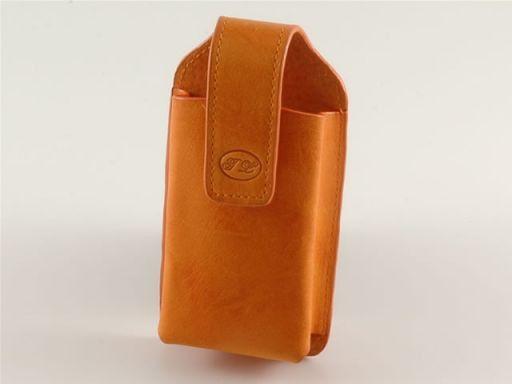 Handytasche aus Leder Orange TL140248