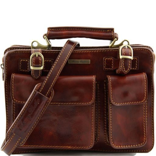 Tania Leather lady handbag Brown TL6021