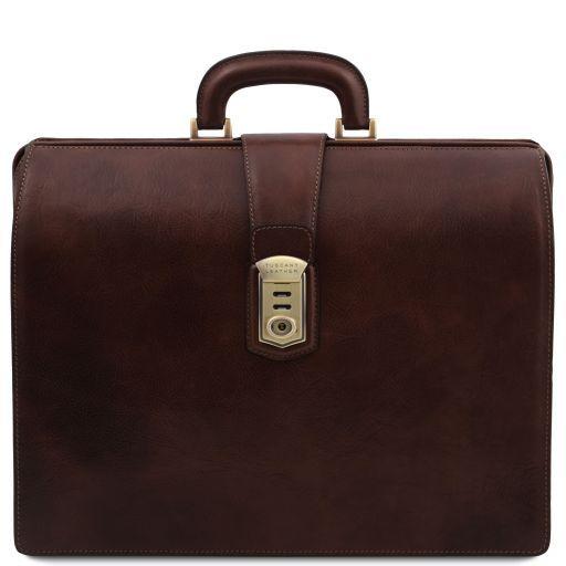 Canova Leather Doctor bag briefcase 3 compartments Темно-коричневый TL141826