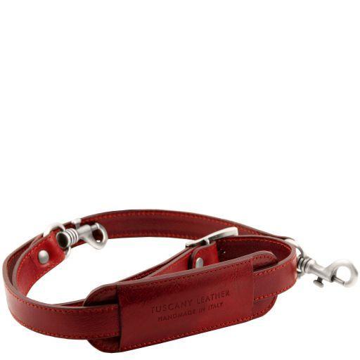 TL Voyager Bandolera ajustable en piel Rojo TL141929