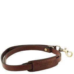 Adjustable briefcases leather shoulder strap Коричневый TL141931