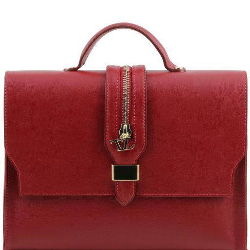 TL Bag Borsa a mano in pelle Saffiano e tracolla staccabile Rosso TL141399