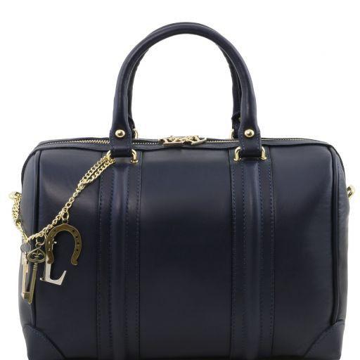 TL KeyLuck Bauletto in pelle morbida con accessori color oro Blu scuro TL141403