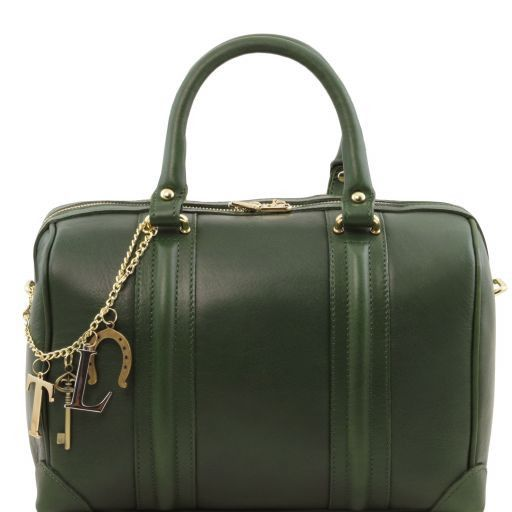 TL KeyLuck Bauletto in pelle morbida con accessori color oro Verde TL141403