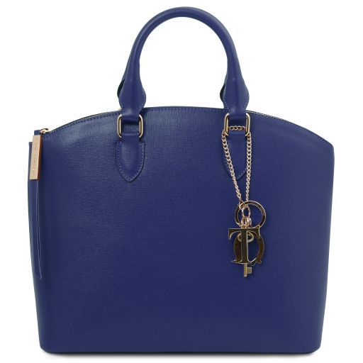 TL KeyLuck Saffiano leather tote Blue TL141261