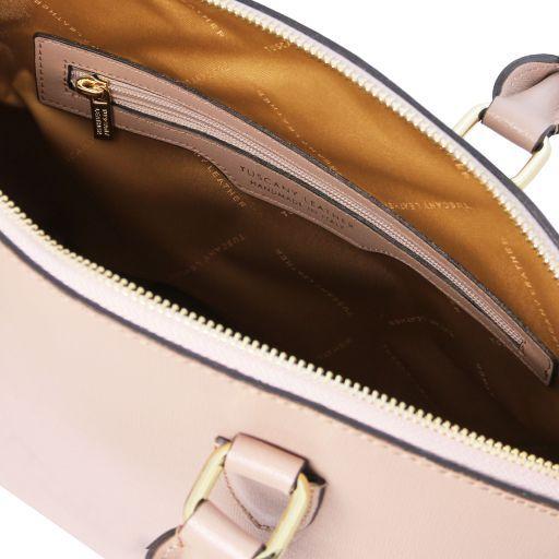 TL KeyLuck Saffiano leather tote Nude TL141261