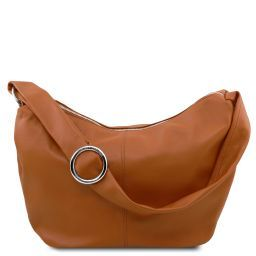 Yvette Soft leather hobo bag Коньяк TL140900