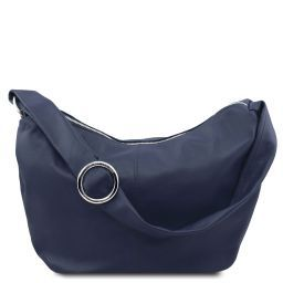 Yvette Sac hobo en cuir souple Bleu foncé TL140900
