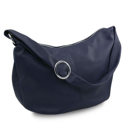 Yvette Borsa hobo in pelle morbida Blu scuro TL140900