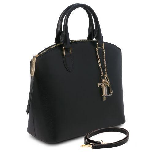 TL KeyLuck Borsa shopping in pelle Saffiano Nero TL141261