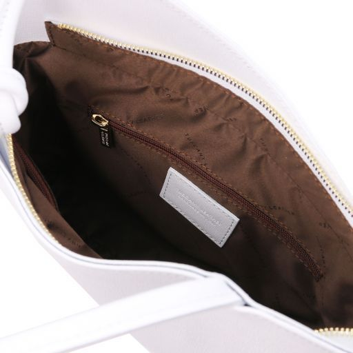 Patty Saffiano leather convertible bag White TL141455