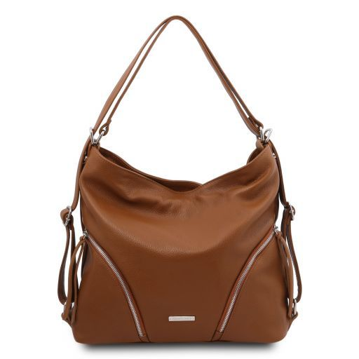 TL Bag Soft leather convertible shoulder bag Cognac TL141938