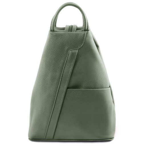 Shanghai Leather backpack Mint Green TL141881