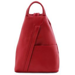 Shanghai Leather backpack Lipstick Red TL141881