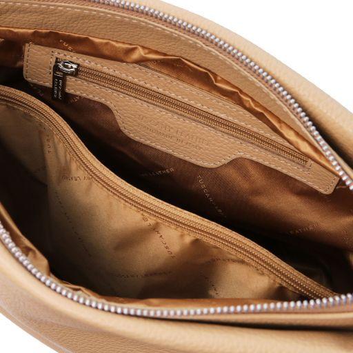 TL Bag Bolso hobo en piel suave Champagne TL141855