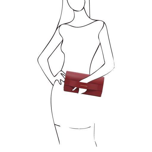 Giulia Sac à main en cuir et bandoulière à chaîne Rouge TL141970
