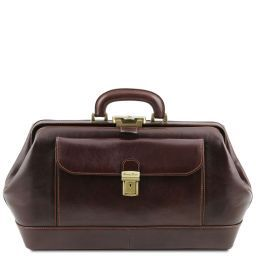 Bernini Exclusive leather doctor bag Dark Brown TL141298