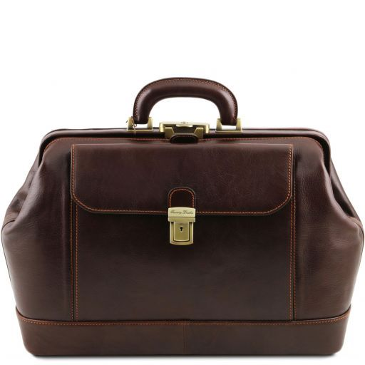 Leonardo Exclusive leather doctor bag Dark Brown TL141299